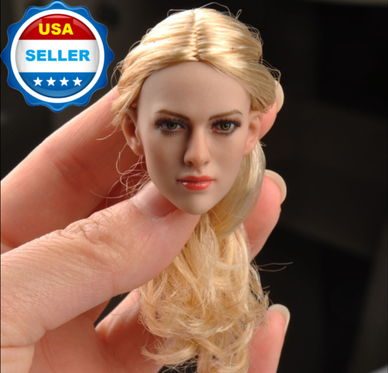 """1//6 Angelina Jolie Mrs Smith Head Sculpt For 12/"""" Hot Toys Phicen  SHIP FROM USA"""