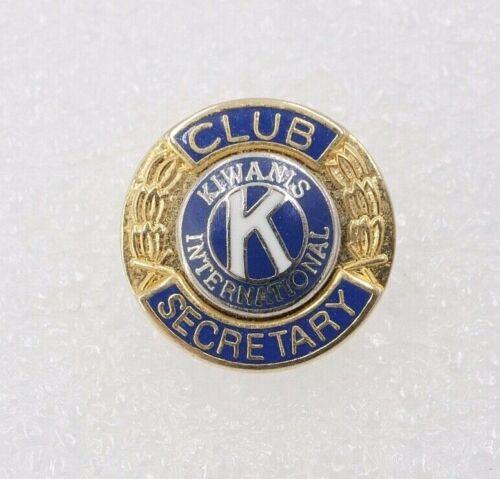 Vtg Kiwanis International Club Secretary Lapel Pin Gold Tone Service Club HH27