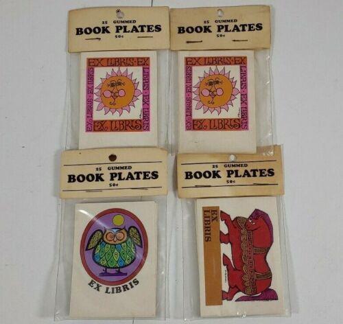 Vintage Lot Of 100 Gummed Book Plates Ex Libris Festoon