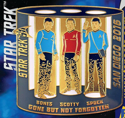 Classic Star Trek 2016 San Diego Comic Con Limited Transporter Metal Enamel Pin