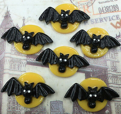 DIY 5/25/50/100 Halloween Bat Flatback Resin Cabochon Scrapbooking/Crafts](100 Halloween)