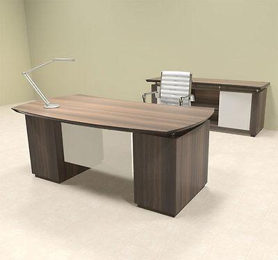 4pc Modern Contemporary Executive Office Desk Set Mt-ste-d5