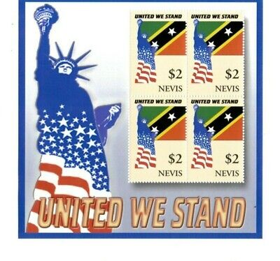 Nevis - 2002 - United We Stand  - Sheet of Four   - MNH