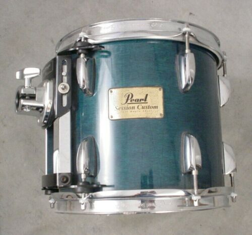 "PEARL SESSION CUSTOM 10"" BLUE STAIN LACQUER MOUNTED TOM DRUM"