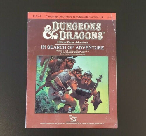 D&D Module B1-9 - In Search Of Adventure - Dungeons and Dragons - TSR 9190 VG