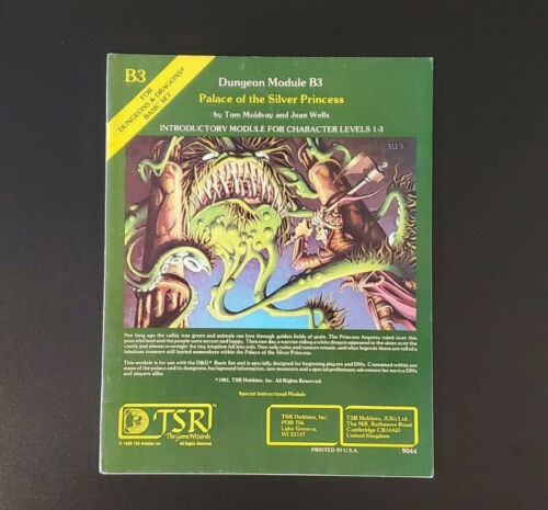 D&D Module B3 - Palace of the Silver Princess - Dungeons & Dragons - TSR 9044 VG