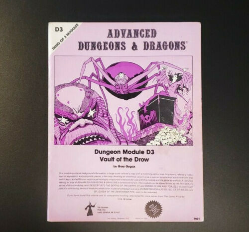 AD&D 2nd Printing Module D3 Mono - Dungeons and Dragons - TSR 9021 - Good