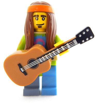 NEW LEGO HIPPIE w/GUITAR singer songwriter minifig minifigure figure musician - Hippie Singer