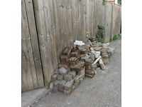 Hardcore/rubble from old bricks and paving