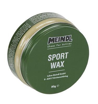 (Euro 7,50 / 100 gr) 80 gr Meindl Sportwax, Pflegemittel für Leder Schuhe, Wax
