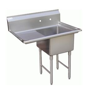 1-Compartment-Prep-Sink-15-x15-with-1-Left-Drainboard
