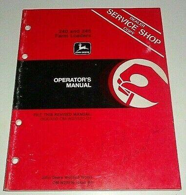 John Deere 245 240 Loader Operators Manual Fits 1640 To 2750 Tractors 2030