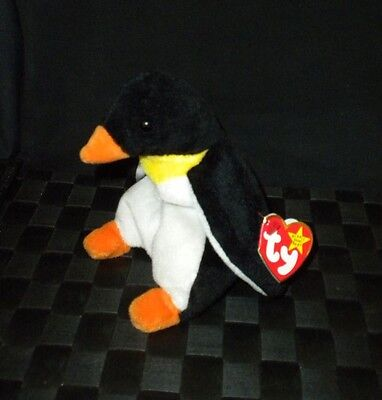 "TY Beanie Baby 1995 ""Waddle"" Plush Stuffed Animal Toy"