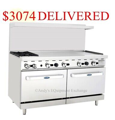 60 2 Burner Range 48 4 Foot Griddle Grill On Right With 2 Ovens Nsf Cert