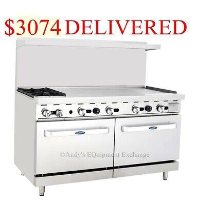 60 2 Burner Range 48 4 Foot Griddle Grill On Right With 2 Ovens Nsf Cert