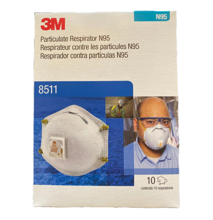 3-M8511 N grade 95 with Cool Flow Brand New in the box 10-pack  EXP: 2025