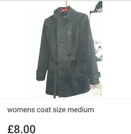 Womens black coat size medium