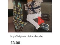 Boys clothes bundle size 3-4 years