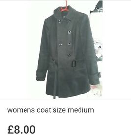 Womens black coat size medium