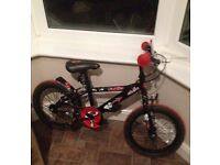 "CHILDS / KIDS APOLLO URCHIN BIKE WITH 16"" WHEELS - GOOD CONDITION BARGAIN AT £15"