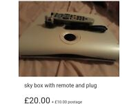 Sky box remote and plug