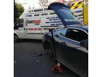 24/7 mobile tyre fitting and car recovery