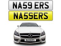 NASSER cherished private personalised number plate reg number NAS NAZ NASSERS NASSER S - NA59 ERS