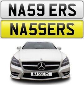 NASSER cherished private personalised number plate reg NAS NAZ NASSERS NASSER S - NA59 ERS