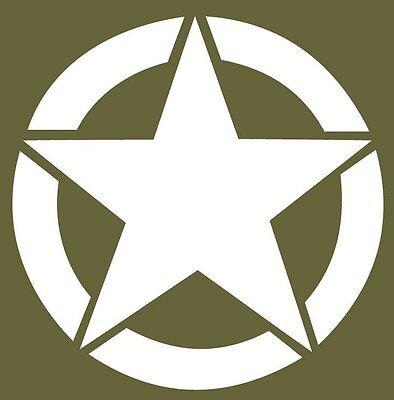 Army Star Vinyl Decal Sticker USA Military Jeep Willys CJ Wrangler Hood 3