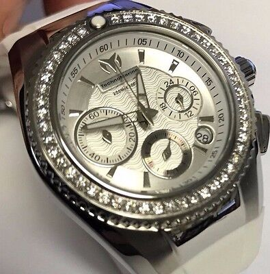 New Technomarine 115232 Ladies Chronograph White Strap Watch