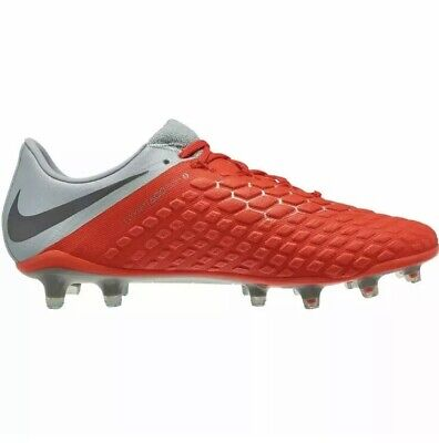 2feacbacd New Nike Hypervenom Phantom 3 Elite FG Red Grey Soccer Cleats AJ3805-600 SZ  11