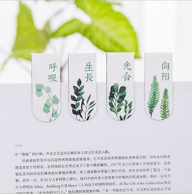 8pcs Green Plants Magnetic Bookmarks Creative Student Book Marker school Supplie