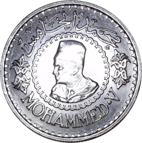 1376-1956 Morocco 500 Francs / Y# 54 / Mohammed V / Silver Coin / High Grade