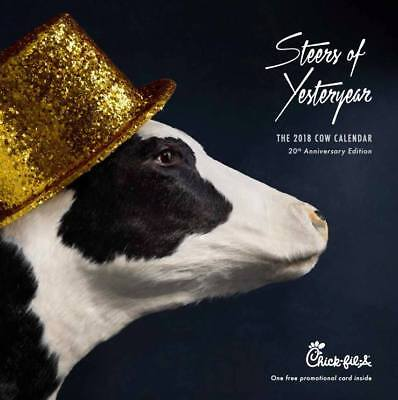 2018 Chick Fil A Cow Calendar With Card For 12 Free Food Items