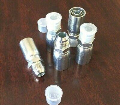 5 Pack Mj-6-6 Hydraulic Hose Crimp Fittings 38 Hose X 38 Mj Hy U Series