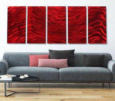 Statements2000 Metal Wall Art Panels Abstract Red Painting Sculpture Jon Allen