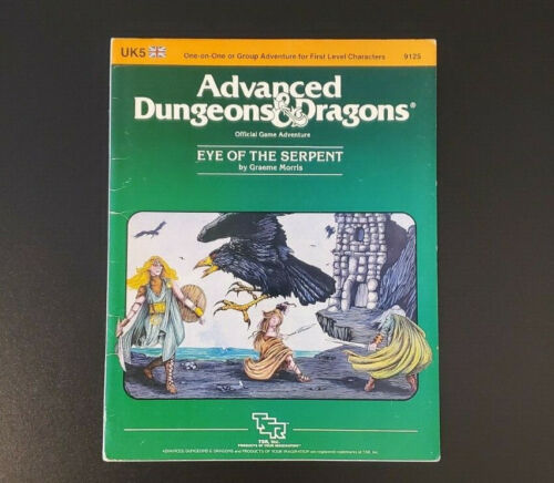AD&D Module UK5 - Eye of the Serpent - Dungeons & Dragons - TSR 9125 - Very Good