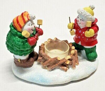 NEW YANKEE CANDLE VOTIVE TEALIGHT CHRISTMAS SNOWMEN MARSHMALLOS BONFIRE CAMPFIRE