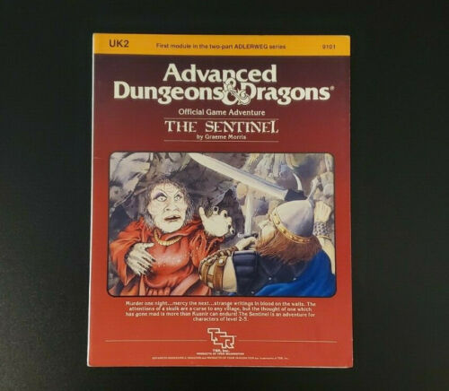 AD&D Module UK2 - The Sentinel - Dungeons and Dragons - TSR 9101 - Very Good