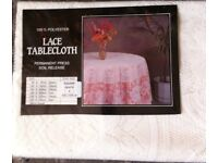 CREAM LACE TABLECLOTH 135 x 135cm square (Brand New)