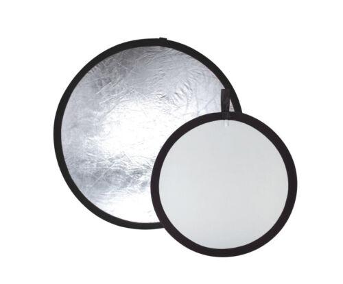 "42"" Photography Light Reflector Silver/White Reversible Photo Studio US SELLER"