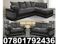DINO CORNER/3+2 SOFA BLACK/GREY OR BROWN /BEIGE LEFT OR RIGHT CORNE 735