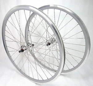 Neuf - Roues pour fixie argent -fixed gear silver/grey wheels