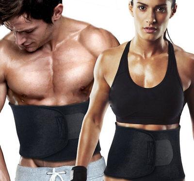 Mens Women Waist Trainer Trimmer Fat Burner Body Shaper Gym Belt Weight Loss Hot