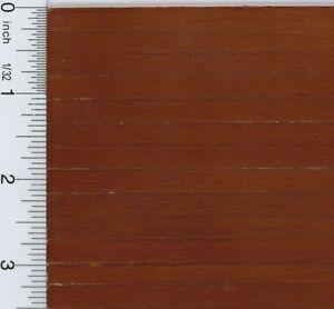 Dollhouse Miniature 1:12 Dark Wood Flooring Sheet in Worn Look (1/4 Inch Slat)