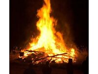 Free Fire wood great if your having a bonfire party.