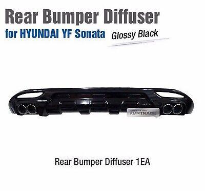 Rear Bumper Diffuser Dual-muffler Glossy Black For HYUNDAI 2011-2014 YF Sonata