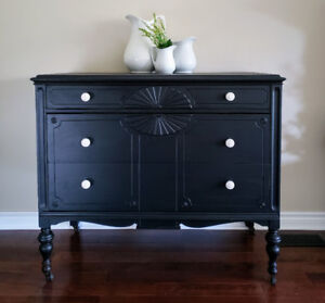 Antique Painted Solid Wood Dresser