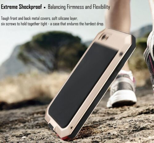 Waterproof Aluminum Metal GORILLA Glass Phone Cover Case For iPhone XS XR 8 7 +