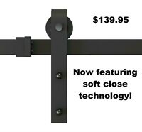 barn door hardware - soft close - 4 styles - free shipping